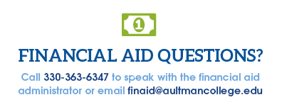 Do you have financial aid questions? Call 330-363-6347 for an administrator