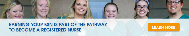 Earning your BSN is part of the pathway to become a registered nurse