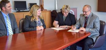 Social Work Agreement Signing
