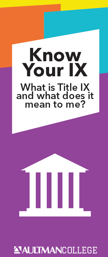 Cover of the Title IX brochure