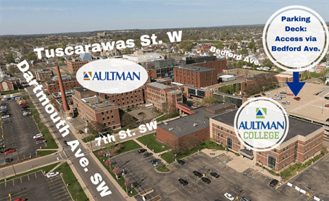 Aultman College Campus Map Updated with Parking