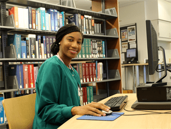 Aultman College Student Using Computer